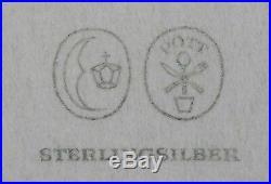 Set of Josef Hoffmann (for Pott) silver teaspoons c1955. Wiener Werkstätte