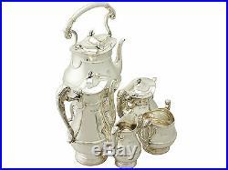 Sterling Silver Five Piece Tea and Coffee Set Art Nouveau Style Antique