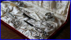 Sterling Silver Victorian Vanity Set Art Nouveau Edwardian Antique Grooming Set