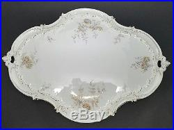 Stunning 6-pc Antique RC Rosenthal LOUIS XIV Tea Service Set w Tray c1891 Floral