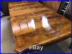 Stunning Burr Walnut Regency Style Dining Table Set, Pro French Polished