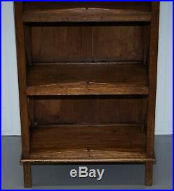 Stunning Pair Of Steeple Top Solid Wood Bookcases Very Decorative Matching Set