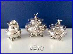 Superb Sheffield Art Nouveau Repousse Silver Plated Tea Set J Turton & Co C1910