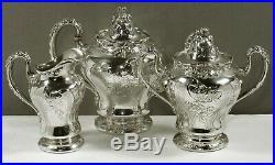 Theo B. Starr Sterling Tea Set c1900 MARTELE