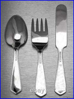 Tiffany & Co Sterling Silver Old King Cole Nursery Baby Spoon Fork Knife Set
