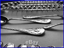 Tiffany Sterling Silver Flatware Set Audubon Pattern Total Of 76 Pieces