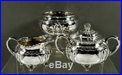 Tiffany Sterling Tea Set c1880 Wave Edge Pattern