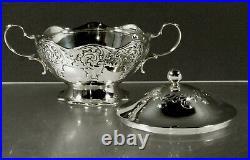Tiffany Sterling Tea Set c1890 SCROLL & WAVE