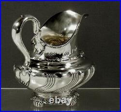 Tiffany Sterling Tea Set c1890 WAVE PATTERN