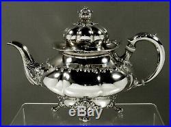 Tiffany Sterling Tea Set c1895 Art Nouveau Rare Pattern