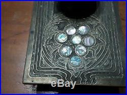 Tiffany Studios Desk Set Abalone ink Blotter 1164 Art Nouveau