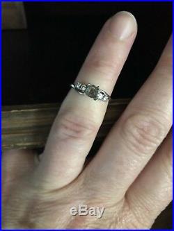 Unique Vintage Platinum Iridium curved Engagement ring semimount ring setting
