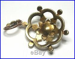 Victorian Star Burst Pendant 15ct gold seed pearl set Grand Period 1860 -1885