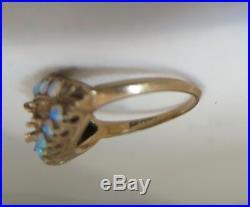 Vintage Antique Opal 10K Gold Setting