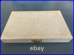 Vintage David Andersen Gold Wash Sterling Silver Enamel spoons Boxed set of 9