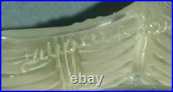 Vintage Lalique France Jamaique crystal signed set ash tray 2 holders & lighter