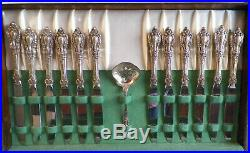 Vintage Lunt Eloquence Sterling Silver 91 Piece Flatware Set With Case