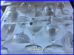 Vintage Noritake SASAKI Crystal 85- piece Bamboo etched Beverage Set- NEW (NOS)