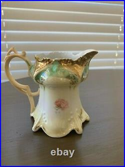 Vintage RS Prussia 3 Piece Set, Creamer, Sugar, and Pitcher True Porcelain