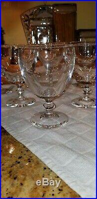 Vintage Steuben #6268 crystal Water Goblets 11 total set used w Provenance