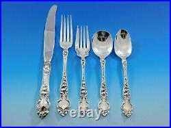 Violet by Wallace Sterling Silver Flatware Service for 8 Set 40 pcs no monograms