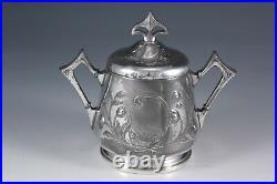 WMF Art Nouveau Jugendstil Secession silver plated tea set German circa 1905