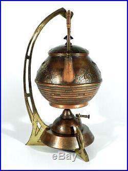 WMF Jugendstil Rechaud ° Kessel Stövchen Brenner Set ° Art Nouveau Wasserkocher