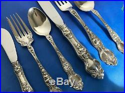 Wallace Violet Sterling Silver 6 Pcs Place Setting True Dinner Size Mint Conditi