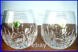 Waterford Lismore Nouveau Light Red Wine Stemless SET/2 Glasses 136878 12 oz New