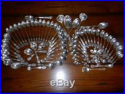 Wild Rose Sterling Service for 129 Piece pl. Setting137 Pieces120 Troy Oz