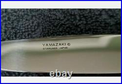 YAMAZAKI JAPAN 18/8 Stainless Flatware CACHE GOLD ACCENT 5 PC PLACE SETTING